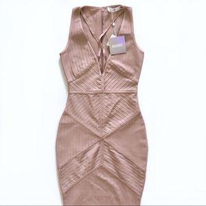 Missguided Mauve Bandage Dress
